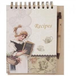 Stylový zápisník na kuchyňské recepty
